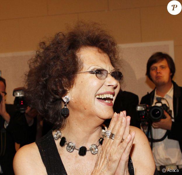 Claudia Cardinale lors de la soirée pour le 150e anniversaire de l'unité italienne, organisée par l'ambassade d'Italie à Berlin le 17 mars 2011