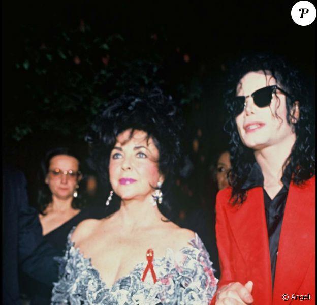 Elizabeth Taylor et Michael Jackson, New York, le 4 juin 1992