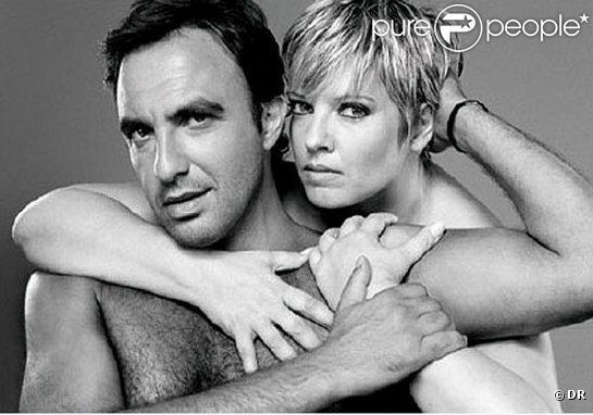 nikos et laurence boccolini un couple improbable pour une campagne de prvention contre le sida - Mariage De Laurence Boccolini