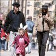 David Bowie, sa femme Iman et leur fille Alexandria