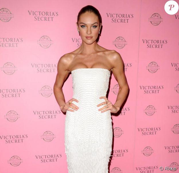 Candice Swanepoel lors de la soirée Victoria's Secret en mars 2011 avec un corps de plus en plus mince