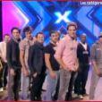 A l'issue de l'étape des trois jours, diffusée le 5 avril 2011, les quatre jurés-manageurs de X Factor ont découvert les catégories qui leur ont été attribuées... Alors, heureux ?