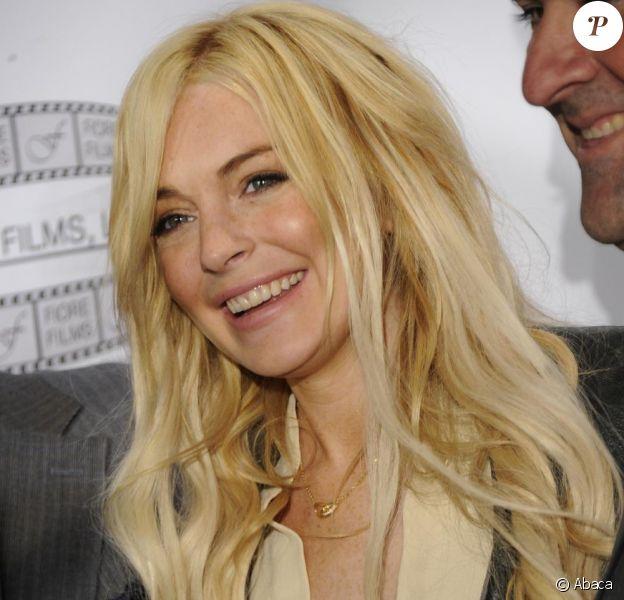 Lindsay Lohan lors de la conférence de presse pour Gotti : Three Generations à New York le 12 avril 2011