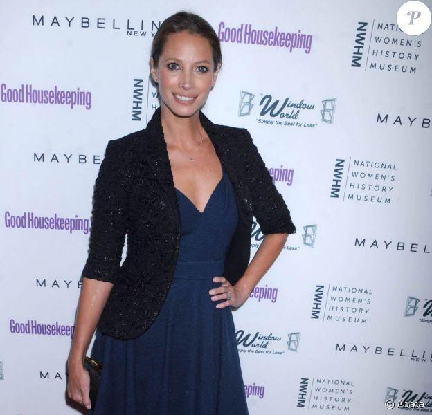 Christy Turlington à la soirée organisée par le magazine Good Housekeeping, à New York, le 12 avril 2011.