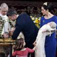 L'église protestante d'Holmen, à Copenhague, accueillait le 14 avril 2011 le baptême des jumeaux du prince Frederik et de la princesse Mary de Danemark, Vincent et Joséphine, célébré par l'évêque Erik Normann Svendsen en présence de 300 personnes.
