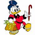 Picsou est le personnage de fiction américain le plus riche selon le magazine Forbes. Fortune estimée : 44,1 milliards de dollars