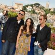 Jude Law lors du festival de Cannes avec Norah Jones et Wong Kar-wai en 2007 pour la projection de My Blueberry Nights