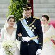 Letizia Ortiz et Felipe d'Espagne se sont dit oui le 22 mai 2004. Espagne, 22 avril 2004