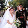 Rania de Jordanie vient de dire oui au roi Abdullah II. Jordanie, 10 juin 1993