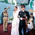D'origine palestinienne, la belle Rania s'est mariée à l'âge de 23 ans. Jordanie, 10 juin 1993
