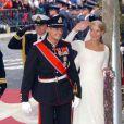 Mette-Marit salue le peuple norvégien. Oslo, 25 août 2000