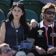 Nolwenn Leroy et Arnaud Clément, amoureux à Roland Garros.