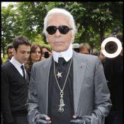Karl Lagerfeld se régale devant un Baptiste Giabiconi à moitié nu et chocolaté !