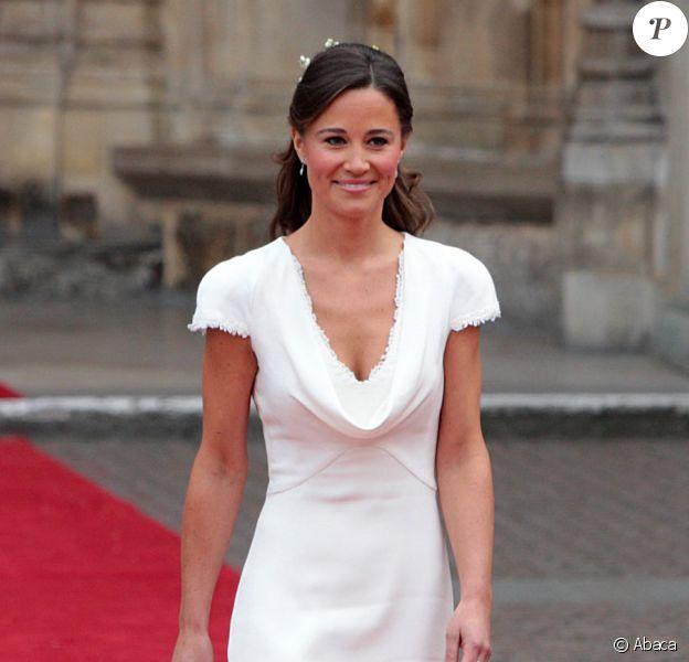 Pippa Middleton à l'Abbaye de Westminster à l'occasion du mariage de sa soeur Kate avec le Prince William, le 29 avril 2011