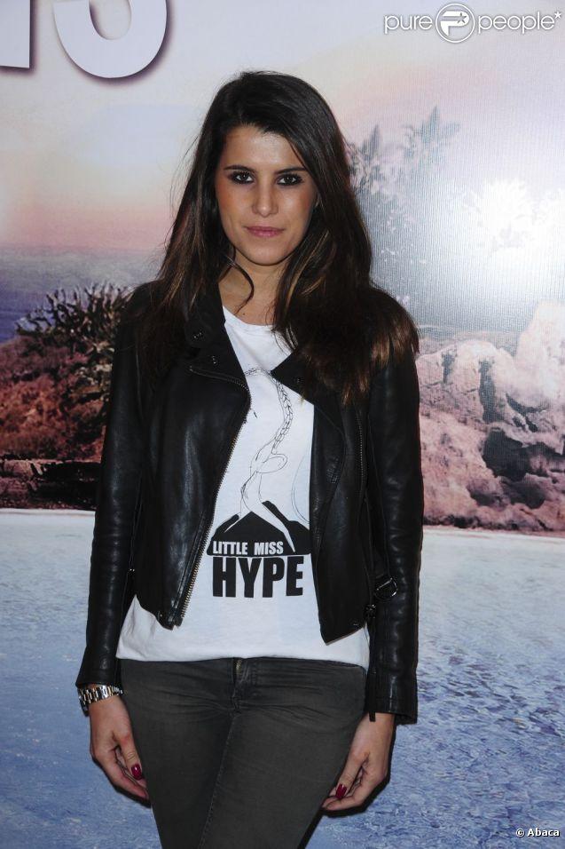 Karine Ferri, le 21 février 2011, au Gaumont Marignan à Paris.