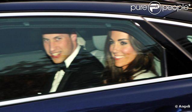 Kate et William hier après-midi avant le dîner...