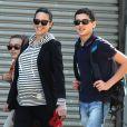Jennifer Connelly avec ses deux fils Kai et Stellan à New York le 29 avril 2011