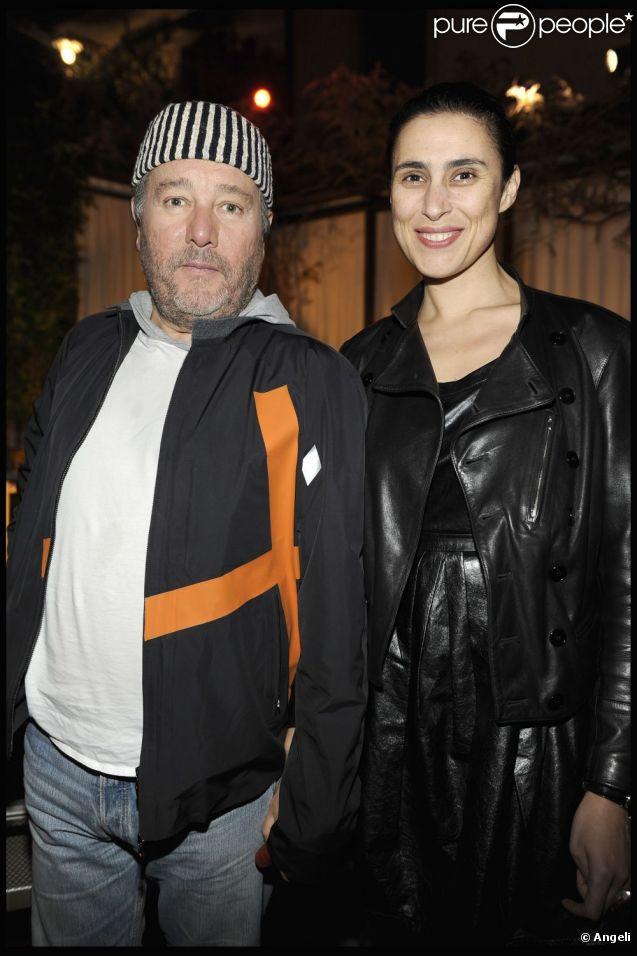Philippe Starck et son épouse Jasmine en avril 2010.