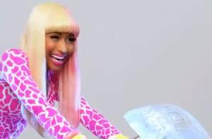 La bimbo fluo Nicki Minaj fait fondre l'homme et la glace dans