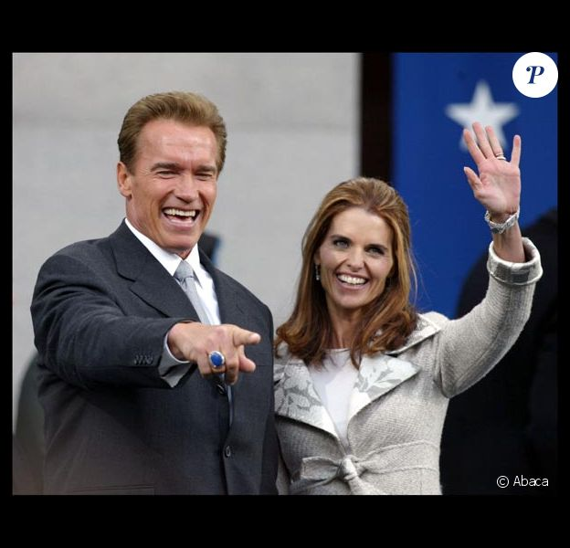 Arnold Schwarzenegger et Maria Shriver, à Washington, en avril 2007.