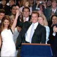 Arnold Schwarzenegger et Maria Shriver, à Los Angeles, en novembre 2003.