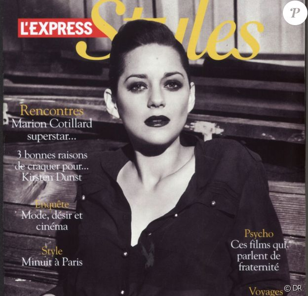 Marion Cotillard en couverture du supplément Styles de L'Express du 11 mai 2011