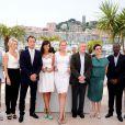 Olivier Assayas, Linn Ullmann, Jude Law, Martina Gusman, Uma Thurman, Robert de Niro (président), Nansun Shi, Mahamat Saleh Haroun et Johnnie To, membres du jury du 64e festival de Cannes le 11 mai 2011