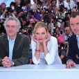 Robert de Niro (président), Uma Thurman et Jude Law, membres du jury du 64e festival de Cannes le 11 mai 2011