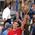 6 ans après l'avoir battu pour la première et unique fois (en avril 2005 à Monte-Carlo, photo), Richard Gasquet dominait Roger Federer au Masters de Rome, le 12 mai 2011. Une performance qui lui a valu un coup de fil du président Nicolas Sarkozy en personne !