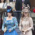 Les princesses Eugenie et Beatrice n'ont pas impressionné par leur style lors des noces de Kate et William, à Londres, le 29 avril 2011.