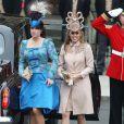 """""""Les princesses Eugenie et Beatrice n'ont pas impressionné par leur style lors des noces de Kate et William, à Londres, le 29 avril 2011."""""""