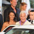 Jean-Paul Belmondo et Barbara Gandolfi à Cannes