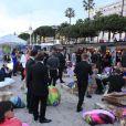 Ouverture de la boutique Roberto Cavalli à Cannes, le 18 mai 2011.