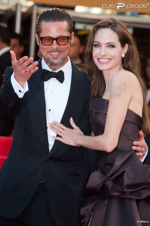 Brad Pitt et Angelina Jolie le 16 mai 2011 pour la Première de The Tree of 9e683f90573