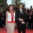 Milla Jovovich et Paul W. S. Anderson présents à Cannes pour la première de La Conquête, le 18 mai 2011