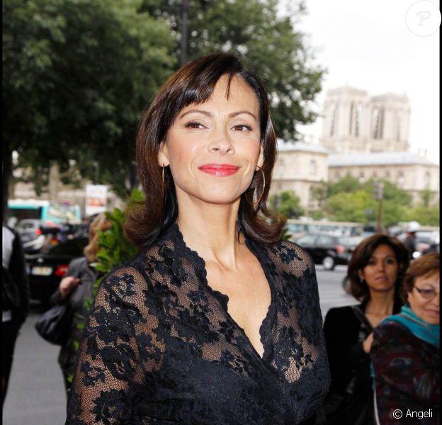 Mathilda May à l'occasion de la soirée de gala donnée pour les 50 ans d'Amnesty International, au Théâtre du Châtelet, le 27 mai 2011.