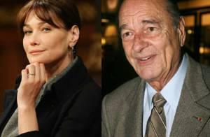 Carla Bruni-Sarkozy prend la place de Jacques Chirac...