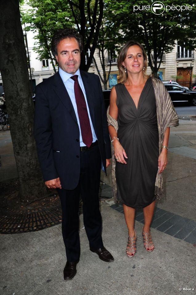 Luc Chatel et sa femme Astrid arrivent à la cinquième fête ...