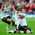 Wayne Rooney le 28 mai 2011 lors de la finale de Champions League face au FC Barcelone. Malgré son but, les Anglais s'inclinent (1-3)