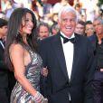 Jean-Paul Belmondo et Barbara Gandolfi lors de l'hommage rendu à Bébel, en mai 2011.