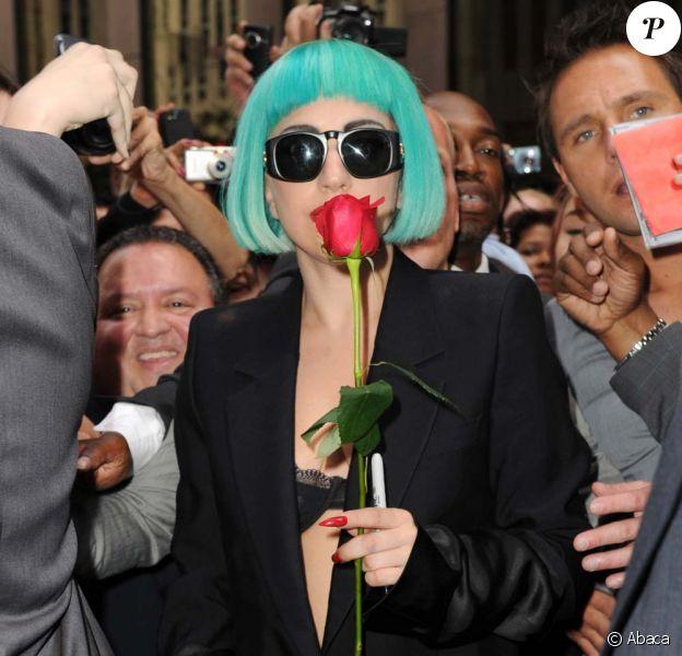 Lady Gaga à la sortie des studios de Sirius XM Radio à New York, le 7 juin 2011.