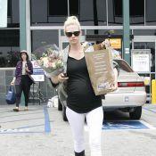 January Jones, enceinte, se fait discrète et se focalise sur son futur enfant
