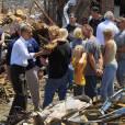 La ville de Joplin, dévastée, après les tornades a accueilli Barack Obama