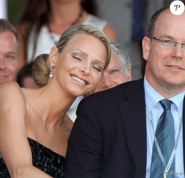 Charlene Wittstock et le prince Albert le 27 mai 2011.