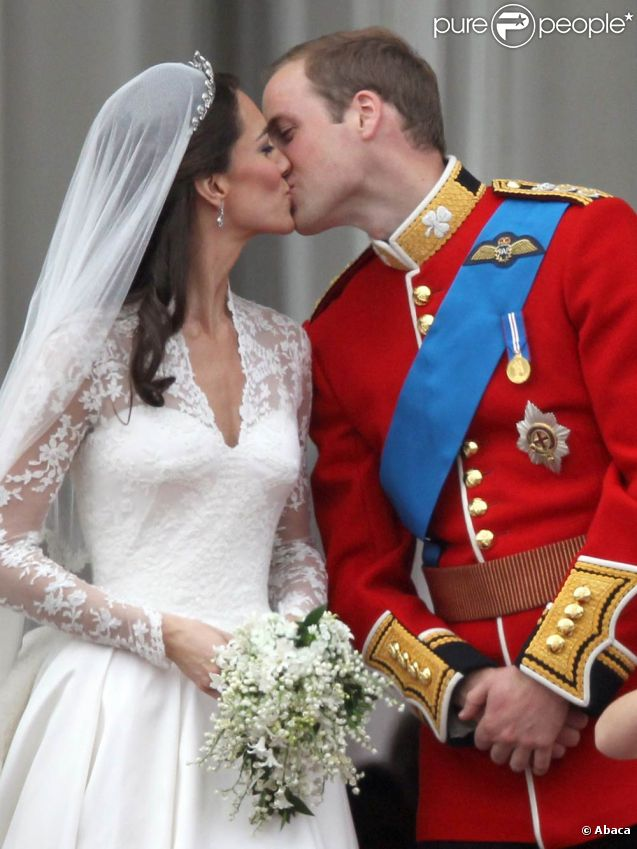Kate Middleton et William le jour de leur mariage, le 29 avril 2011, à Londres.