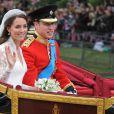 """""""Kate Middleton et le prince William le jour de leur mariage, le 29 avril 2011, à Londres."""""""
