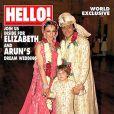 Elizabeth Hurley et Arun Nayar en couverture d'Hello ! magazine en  octobre 2007