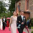 La princesse Mary et le prince Frederik de Danemark assistaient, le 18 juin 2011, au mariage religieux de la princesse Nathalie de Sayn-Wittgenstein-Berleburg et d'Alexander Johanssmann, en l'église protestante de Bad Berleburg, en Allemagne.