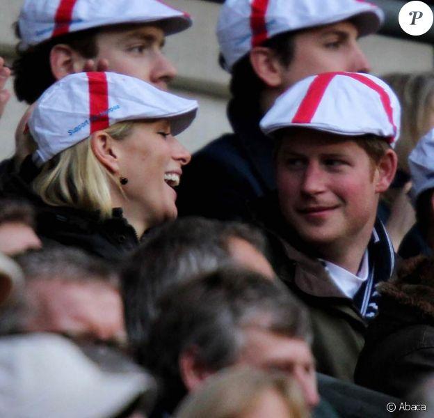 Très proche de son cousin Harry, Zara Phillips (photo : ensemble le 26 février 2011 à Twickenham pour encourager le XV de la Rose) ne veut pas voir sa girlfriend épisodique Chelsy Davy à son mariage avec Mike Tindall, le 30 juillet 2011 à Edimbourg. Elle a l'intention de lui présenter d'autres personnes !