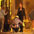 Deborah Ann Woll sur tournage de  True Blood , saison 4, à La Puente, le 9 juin 2011.